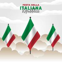 Republic Day of Italy poster vector