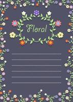 Floral Frame on a card vector