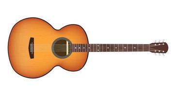 a acoustic guitar vector
