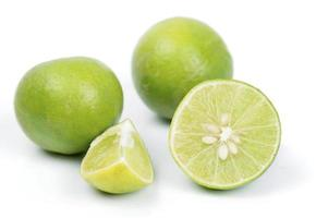 Close-up of sliced limes photo