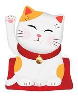Maneki Neko or japan lucky cat vector
