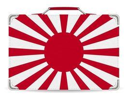 japan rising sun flag on suitcase travel vector