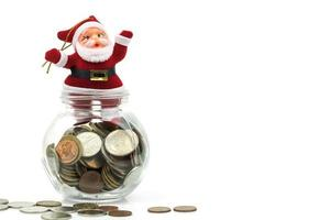 Santa decoration with money photo