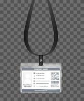 simple landscape employee id card template  vector