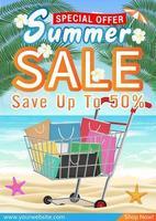 summer sale special offer deal  promotion poster vector
