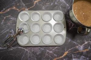 Baking tray for making muffins photo