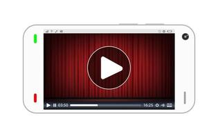 smartphone playing a streaming video vector