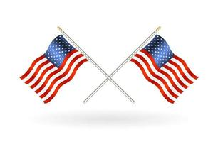 cross united states of america flag on a white background vector