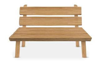 Silla de madera real sobre un fondo blanco. vector