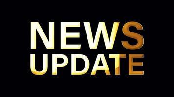 NEWS UPDATE Golden Word Loop Isolated Element