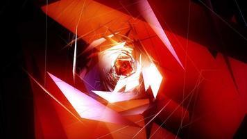 Bewegen durch leuchtende fraktale grafische Elemente Endlosschleife