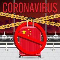 China is being shut down to contain coronavirus quarantine and restricting travel to China vector