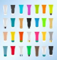 Colorful Cosmetic tubes vector