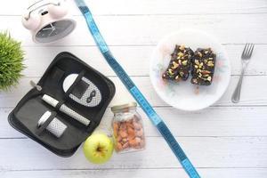 Diabetic monitoring tool flat lay photo