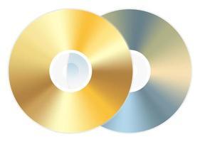 golden cd dvd disc vector