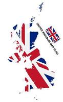 united kingdom flag map on white background vector