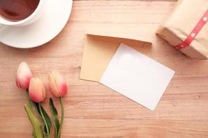 Blank Valentine's Day card mock-up photo