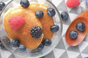 Pancakes and berries photo