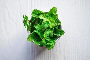 Top view of mint photo
