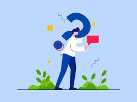 Frequently Asked Questions vector