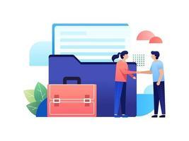 acuerdo de colaboración empresarial vector