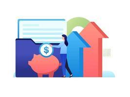 una cartera de inversiones vector