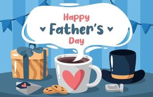 Flat Father's Day Surprise Concept vector