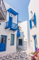 Beautiful architecture with santorini and greece style photo