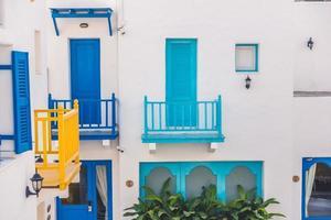 Traditional buildings on Santorini, Greece
