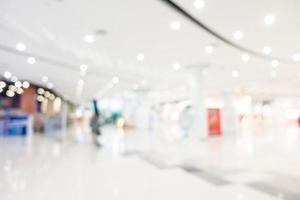 Abstract defocused department store interior for background photo