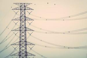 High voltage transmission tower photo