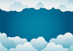 paper art style cloud background blue .vector illustration vector