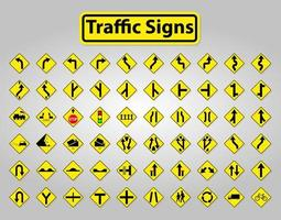 Set WarningTraffic Signs,Prohibition Symbol Sign Isolate on White Background vector