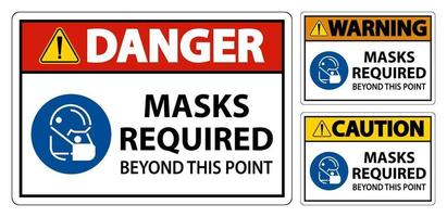 Symbol Masks Required Beyond This Point Sign vector