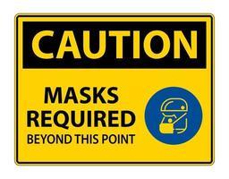 se requieren máscaras de símbolos de precaución más allá de este signo de punto vector