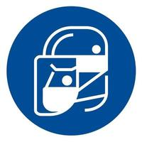 Simple wear protective Face shield icons for your design vector