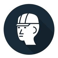 Wear Hard Hat Sign Isolate On White Background,Vector Illustration EPS.10 vector
