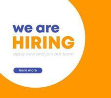 estamos contratando diseño de banner, concepto de reclutamiento, vector
