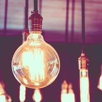 Vintage and Retro light bulb photo