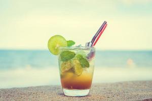 Mojito cocktail in glass photo