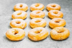 Sweet dessert with many donut photo