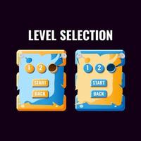 Funny casual game ui level selection interface. vector
