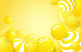 Yellow Abstract Bubble Background vector