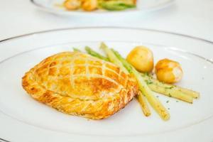 Chicken pie bread with vegetable photo