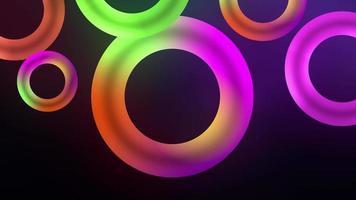 pop multicolorido neon brilho arco-íris anel anelar