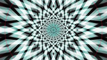 loop vj de padrão de caleidoscópio psicodélico verde claro