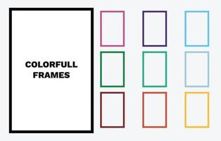 Colorful Vector Photo Frames Vector