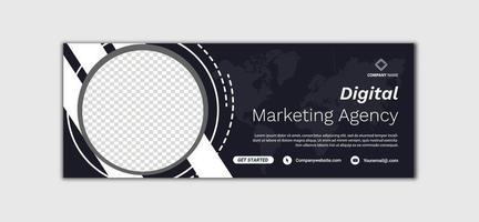 Digital Marketing template banner design for social media, Digital business marketing promotion timeline facebook and social media cover template vector