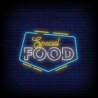Special Food Neon Signs Style Text Vector