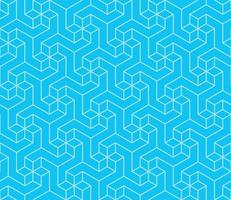 Geometric pattern with three-dimensional shape vector